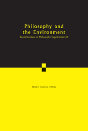 Royal Institute of Philosophy Supplements Volume 69 - Issue  -