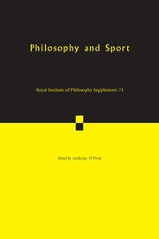 Royal Institute of Philosophy Supplements Volume 73 - Issue  -