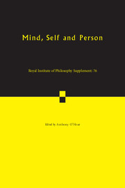 Royal Institute of Philosophy Supplements Volume 76 - Issue  -