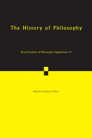 Royal Institute of Philosophy Supplements Volume 78 - Issue  -