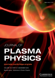 Journal of Plasma Physics Volume 76 - Issue 6 -  Advances in Photon Physics