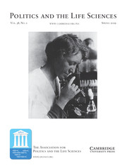 Politics and the Life Sciences Volume 38 - Issue 1 -