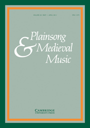 Plainsong & Medieval Music Volume 20 - Issue 1 -