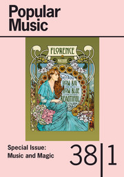 Popular Music Volume 38 - Special Issue1 -  Music and Magic