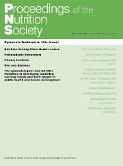 Proceedings of the Nutrition Society Volume 67 - Issue 1 -