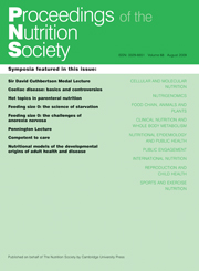 Proceedings of the Nutrition Society Volume 68 - Issue 3 -