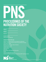 Proceedings of the Nutrition Society Volume 71 - Issue 2 -