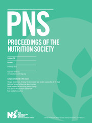 Proceedings of the Nutrition Society Volume 74 - Issue 1 -