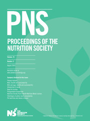 Proceedings of the Nutrition Society Volume 75 - Issue 3 -