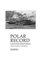 Polar Record Volume 45 - Issue 4 -