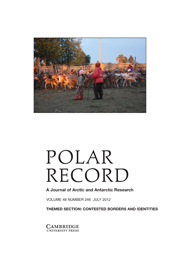 Polar Record Volume 48 - Issue 3 -  THEMED SECTION: CONTESTED BORDERS AND IDENTITIES