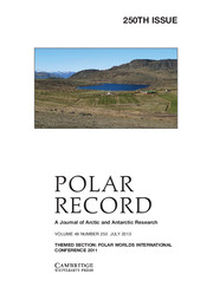 Polar Record Volume 49 - Issue 3 -  THEMED SECTION: POLAR WORLDS INTERNATIONAL CONFERENCE 2011