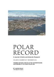 Polar Record Volume 52 - Issue 6 -