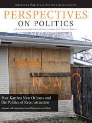 Perspectives on Politics Volume 10 - Issue 3 -