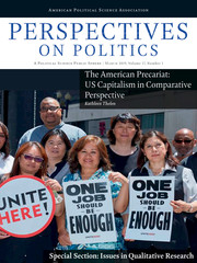 Perspectives on Politics Volume 17 - Issue 1 -