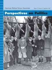 Perspectives on Politics Volume 5 - Issue 3 -