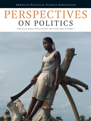 Perspectives on Politics Volume 8 - Issue 1 -