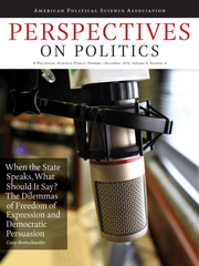 Perspectives on Politics Volume 8 - Issue 4 -