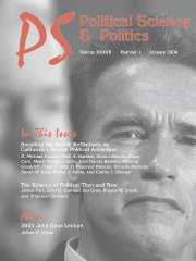 PS: Political Science & Politics Volume 37 - Issue 1 -