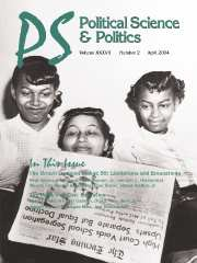 PS: Political Science & Politics Volume 37 - Issue 2 -