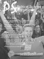 PS: Political Science & Politics Volume 38 - Issue 1 -