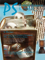PS: Political Science & Politics Volume 41 - Issue 3 -