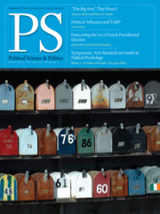 PS: Political Science & Politics Volume 45 - Issue 2 -