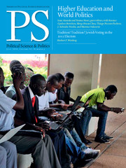 PS: Political Science & Politics Volume 47 - Issue 3 -