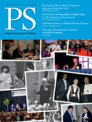 PS: Political Science & Politics Volume 48 - Issue 2 -