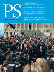 PS: Political Science & Politics Volume 51 - Issue 1 -