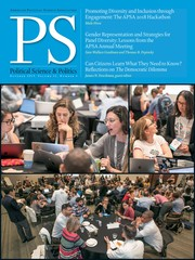 PS: Political Science & Politics Volume 52 - Issue 4 -