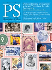 PS: Political Science & Politics Volume 53 - Issue 3 -