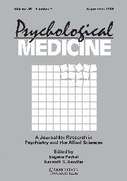 Psychological Medicine Volume 35 - Issue 9 -