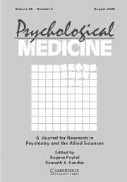 Psychological Medicine Volume 36 - Issue 11 -
