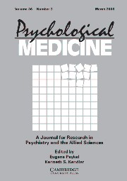 Psychological Medicine Volume 36 - Issue 3 -
