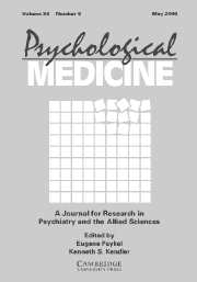 Psychological Medicine Volume 36 - Issue 5 -