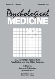 Psychological Medicine Volume 37 - Issue 11 -
