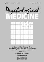 Psychological Medicine Volume 37 - Issue 12 -