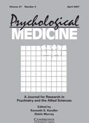 Psychological Medicine Volume 37 - Issue 4 -