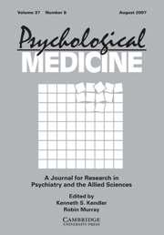 Psychological Medicine Volume 37 - Issue 8 -