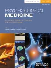 Psychological Medicine Volume 38 - Issue 4 -