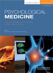 Psychological Medicine Volume 38 - Issue 9 -