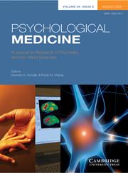 Psychological Medicine Volume 39 - Issue 8 -