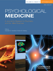 Psychological Medicine Volume 44 - Issue 12 -