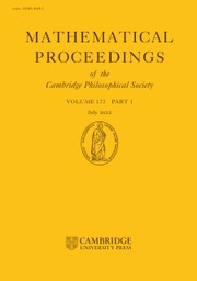 Mathematical Proceedings of the Cambridge Philosophical Society