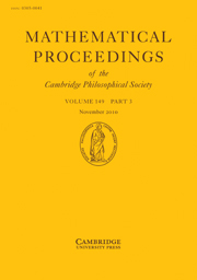 Mathematical Proceedings of the Cambridge Philosophical Society Volume 149 - Issue 3 -