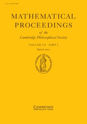 Mathematical Proceedings of the Cambridge Philosophical Society Volume 154 - Issue 2 -