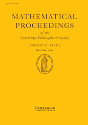 Mathematical Proceedings of the Cambridge Philosophical Society Volume 157 - Issue 3 -