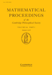 Mathematical Proceedings of the Cambridge Philosophical Society Volume 164 - Issue 1 -