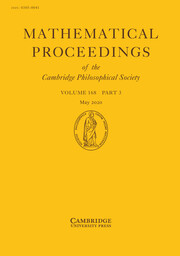 Mathematical Proceedings of the Cambridge Philosophical Society Volume 168 - Issue 3 -